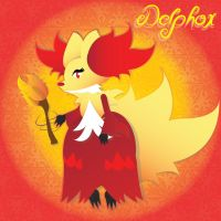 delphox by Lucora