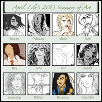 2013 Summary of Art by April-Lily