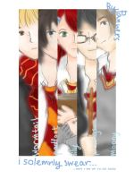 the marauders + lily by Panners