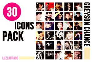 Icon Pack Greyson Chance by LuzLaura98