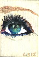 painting of an eye by Carmelasegal