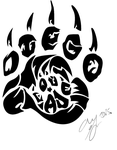 Tribal paw by Panda-child