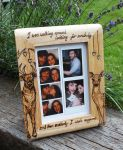 Pyrography deer picture frame by BumbleBeeFairy