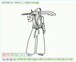 How to draw Miyamoto Part 2 by SketchHeroes