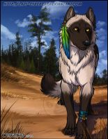 PineForest Wolf by lady-cybercat