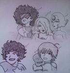 Las CrystalGems ,Steven , Max y blue by CesarChoi-Kun
