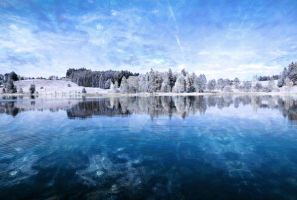 Premade Winter Lake Stock by MBHenriksen