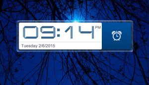ZTE Blade 3 Clock for xwidget by jimking