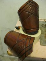 Leather Gauntlets by passbyguy