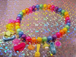 Gumball Machine Fantasy Pop Beads necklace by PoniesOfDOOOM