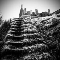 KenmureCastle12: moat steps by Coigach