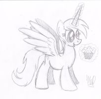 Derpy Hooves: Princess of Muffins by drawponies