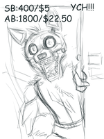 FNAF YCH AUCTION CLOSED by KasaraWolf