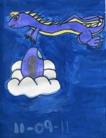 Sky Dragon and egg by water16dragon