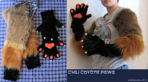 Chili Coyote Paws by LobitaWorks