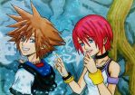Sora x Kairi Kingdom Hearts 1 ending by dagga19