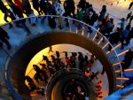 Whirl People (Le Louvre stairs) by Cloudwhisperer67