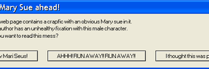 Mary Sue Warning by quamp