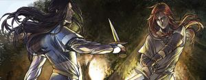Fingon and Maedhros in Valinor by lilithran