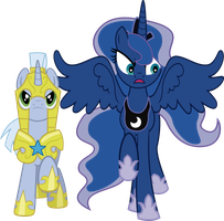 Luna and The Royal Guard (Surprise comic) by j5a4