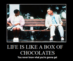Forest Gump Box of chocolates by Calilola