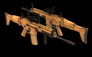 FN-Scar-L - Final texture MK2 by eRe4s3r