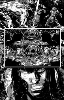 Conan vs Predator p5 by johnnymorbius