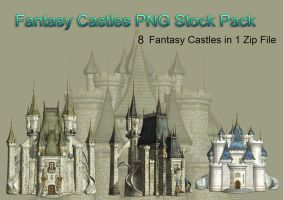 Fantasy Castle PNG Stock Pack by Roys-Art