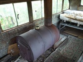 Magic Bus: Stove and Bed by IzabelMarrupho