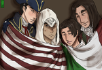 .:AC/FA:. Family and Flags by Clover1