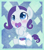 MLP Babies - Rarity by gamemaster19863