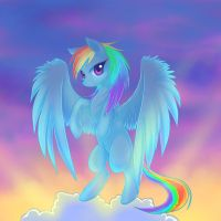 Rainbow in the sky by Jack-a-Lynn