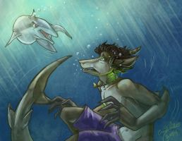 OC Exchange: Dolphins Are Terrible People by Daroneasa