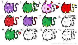 FREE Cat Adoptables - CLOSED! by animemagic2112
