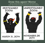 Draw This Again Meme COMPLETE- Zodia by Zelnodi