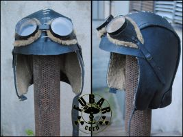 Marauder Leather Helmet by Zaxnot