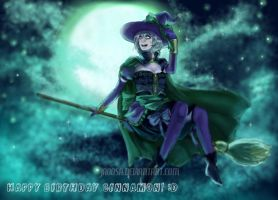 The silver eyed Witch, Ardyce by jaoosa