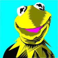 Kermit THE frog by pokadotspider