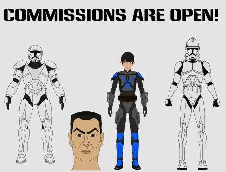 Star Wars Commisssions are Open! by JediAnakinSkyguy