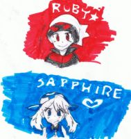 RubyNSappDoodles_ by Umbra-Flower
