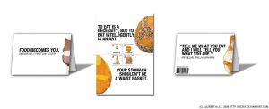 Food Becomes You stamp booklet by lizzAy