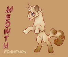 .: Meowth Ponikemon :. by Astral-Dragon