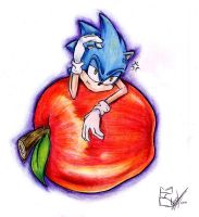 Sonic hates apples by LafiLoyahl