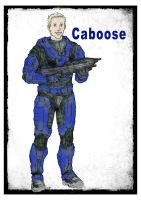 Caboose Red Vs Blue by Minkilo