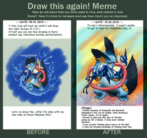 Draw this again- Greninja x Swampert by Weirda208