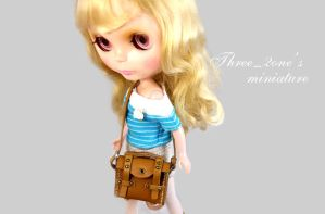 miniature minibag--Leather Backpack by Three-2one