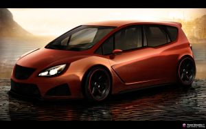 Opel Meriva WTB Front view by DURCI02