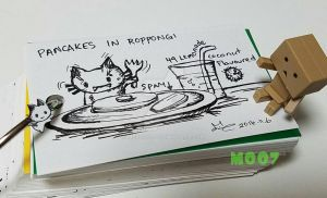 A doodle a day - Spam ham with pancakes by Merc007