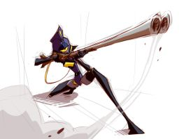 one eyed huntress by DeadFish25