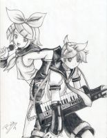 kagamine_twins by link-green-hat